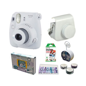 Fujifilm instax mini 9 Instant Film Camera Value Pack {Smokey White}