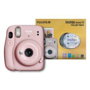 Fujifilm instax mini 11 Instant Film Camera Value Pack {Blush Pink}