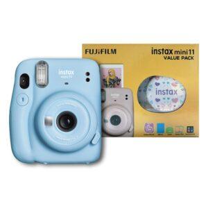 Fujifilm instax mini 11 Instant Film Camera Value Pack {Sky Blue}